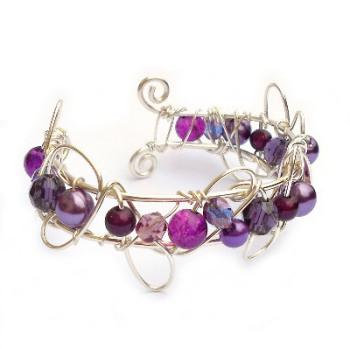 Small Cuff Bracelet - Purple