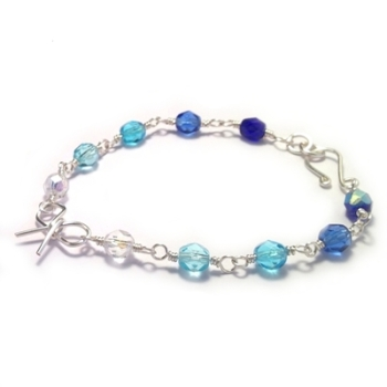 Bow Bracelet - Turquoise and Blue
