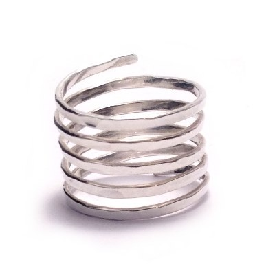 sterling silver wrap around ring sterling silver