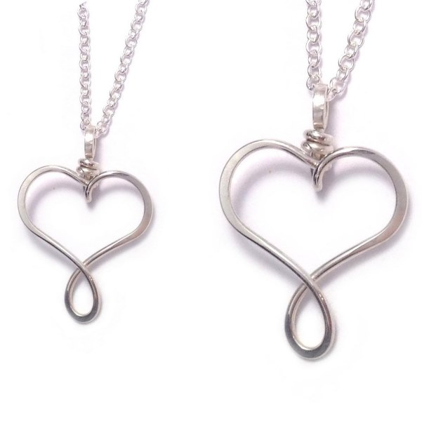 Mother daughter necklace set family necklaces mothers gifts mother and daughter necklace heart necklaces sterling silver 5 aloadofball Choice Image