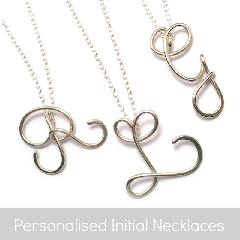 initial necklaces b
