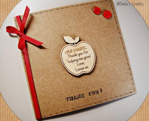Teacher gift and card