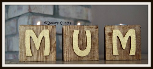 Single candle blocks - Hobo letters