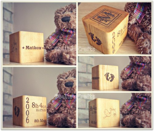 Personalised Newborn Keepsake block