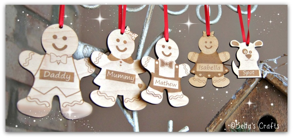 Hanging Gingerbread man family