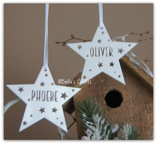 Personalised White Acrylic Star