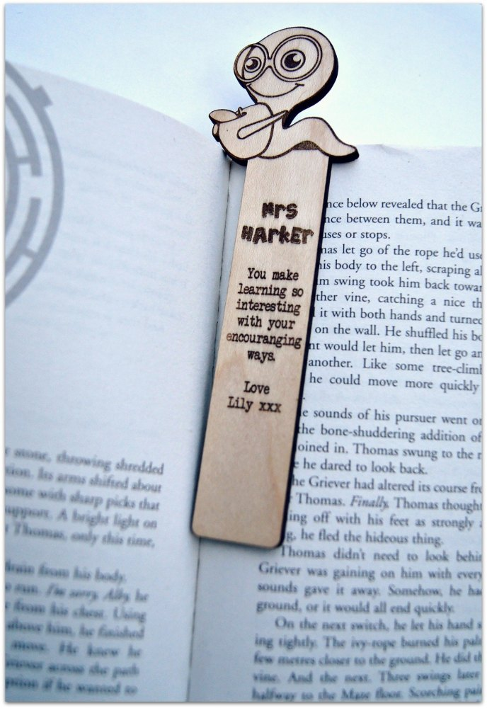 Personalised Apple Worm Bookmark