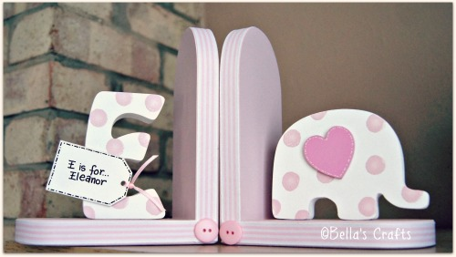 Initial and Elephant bookends