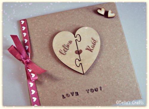 Jigsaw heart magnet gift and card