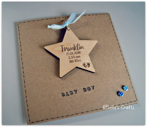 Baby hanging Star and card