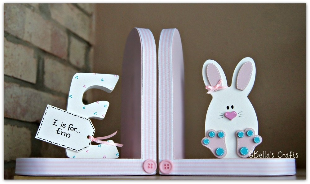 Initial and Bunny bookends
