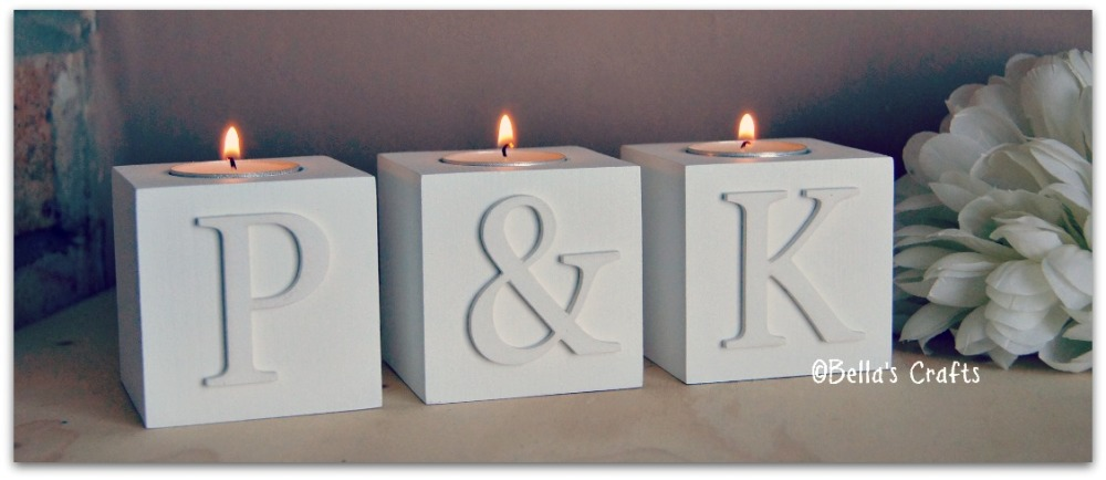 White single candle blocks - Letters