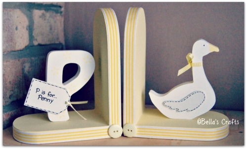Initial and Goose bookends