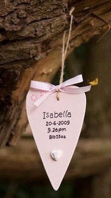 Newborn primitive heart decoration/tag