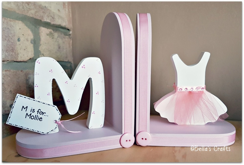 Initial and Ballet dress bookends