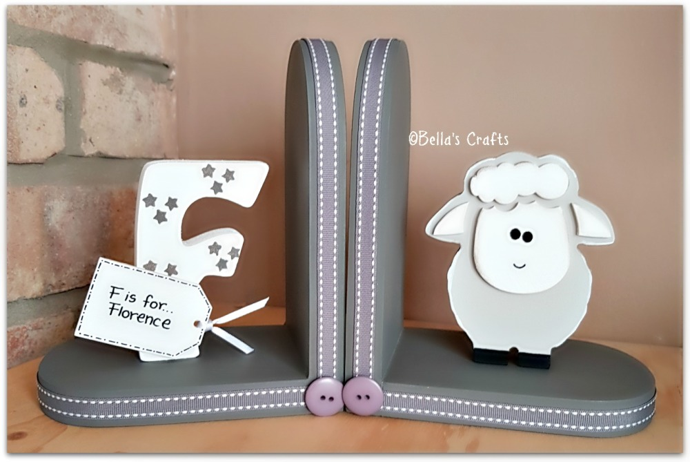 Initial and Sheep bookends