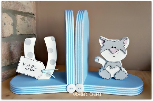 Initial and Cat bookends