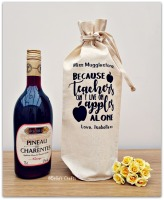 Personalised Teacher Wine Bottle Bag