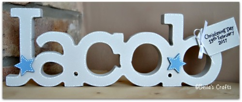 Personalised freestanding name