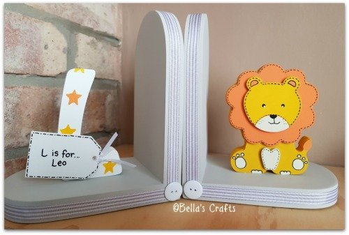 Initial and Lion bookends