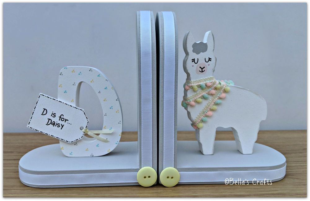 Initial and Llama bookends