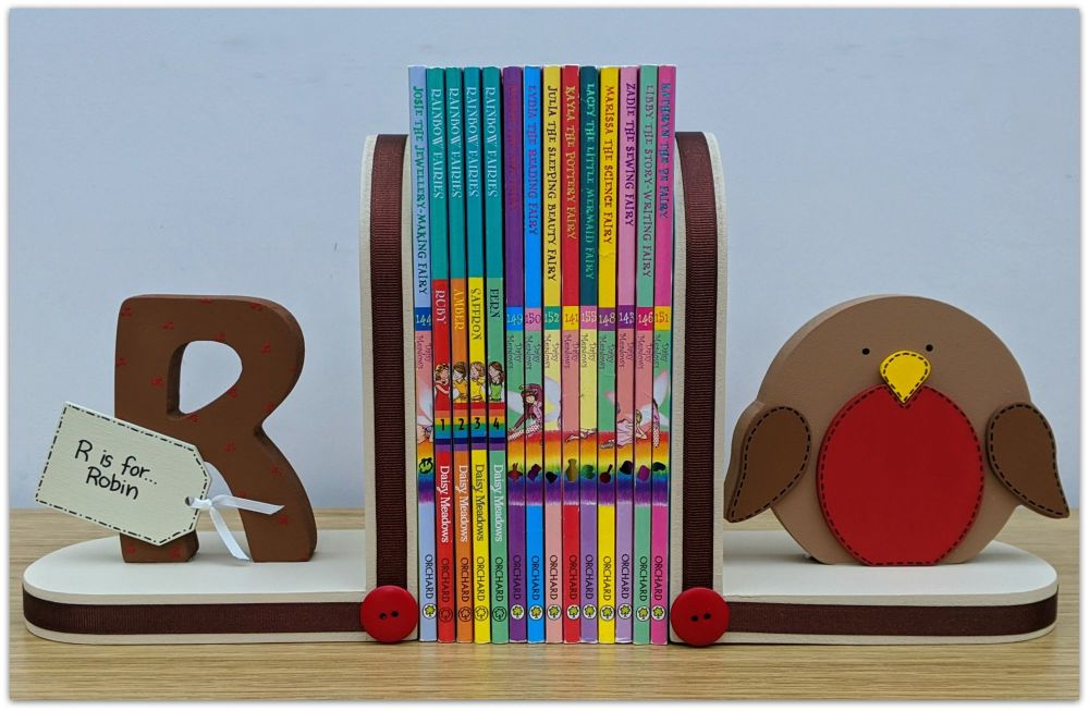 Personalised Robin bookends