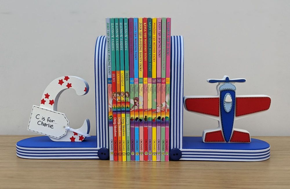 Personalised Aeroplane bookends