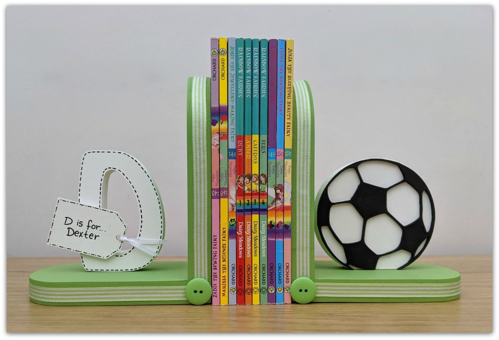 Initial and Football bookends