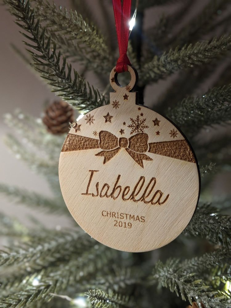 Christmas Wooden Bauble