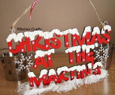 Snowy Christmas sign