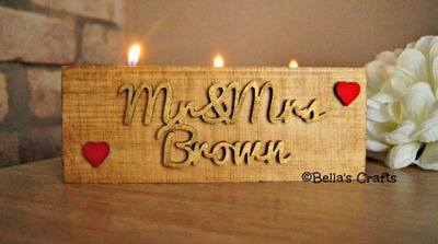 Long block with candles (Mr & Mrs)