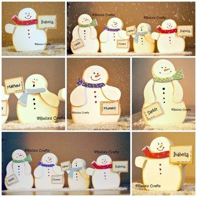 Free-standing Snowman family
