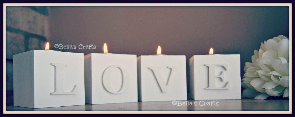 White wooden candle blocks