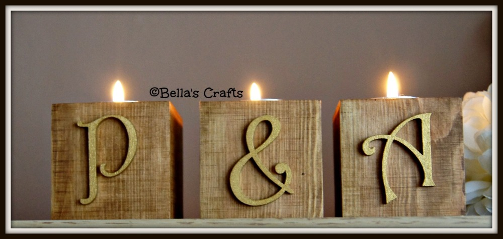 Single candle blocks - Letters