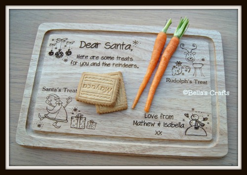 Santa's Treats Personalised wooden board