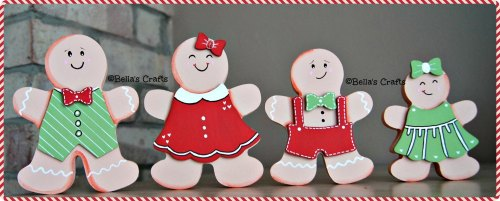 Free-standing Gingerbread man family
