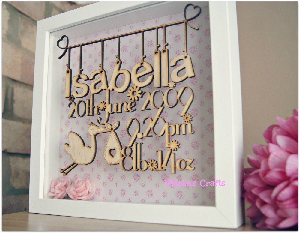 Personalised Floating Wooden Sign In A Box Frame