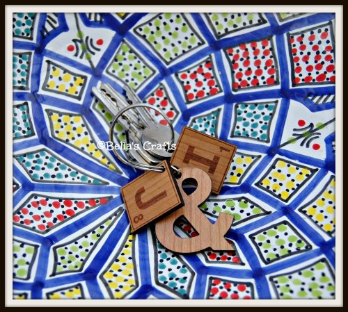Personalised Scrabble keyring