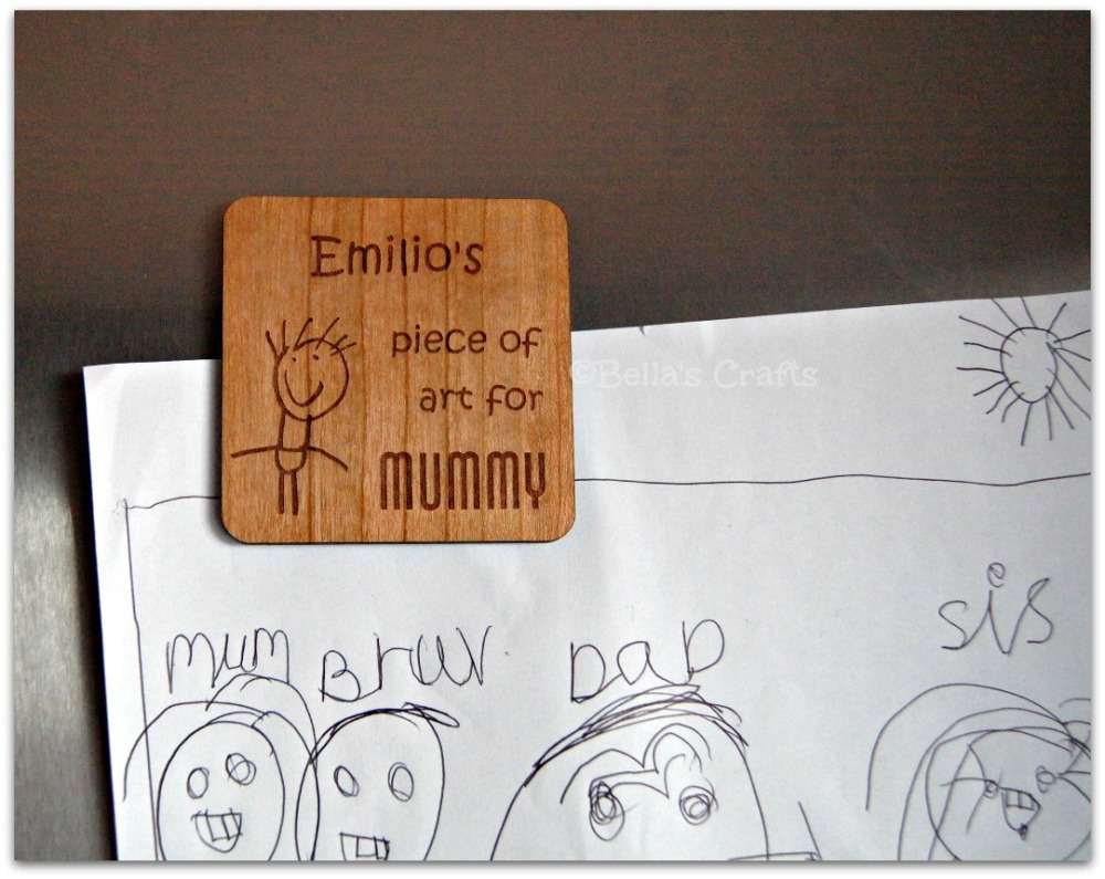 Personalised Wood Magnet