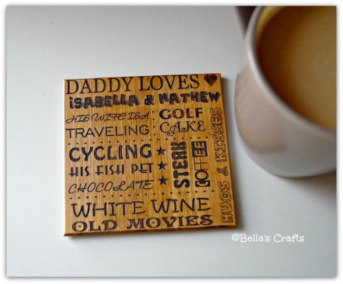 Personalised Bamboo Coaster