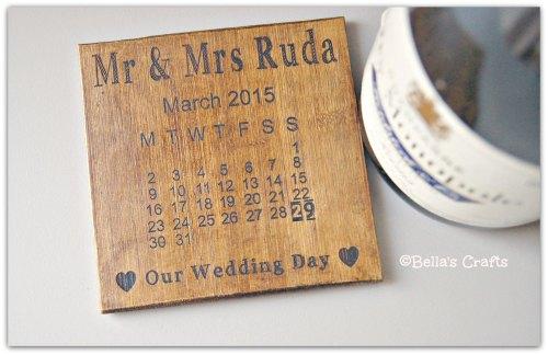 Mr & Mrs Bamboo Coaster