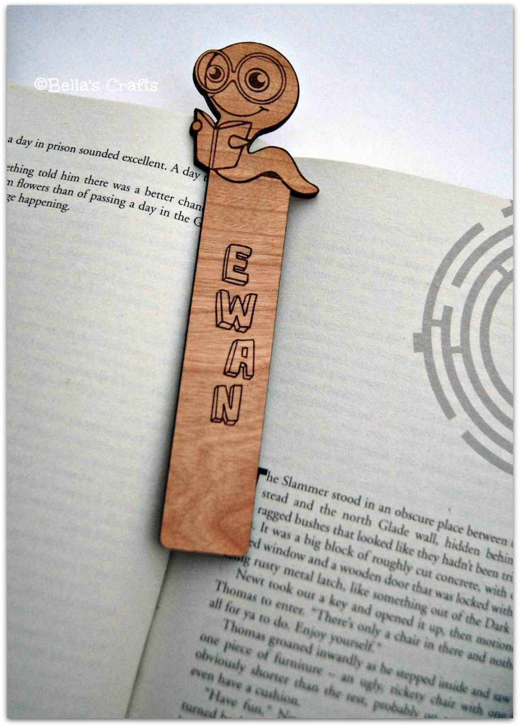 Personalised Smart Worm Bookmark