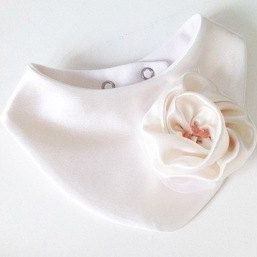 Milly's Designer Girls Bib - White Rose