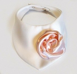 Milly's Designer Girls Bib - Pink & White Rose