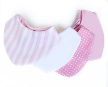 Pink Stripe Set of 4