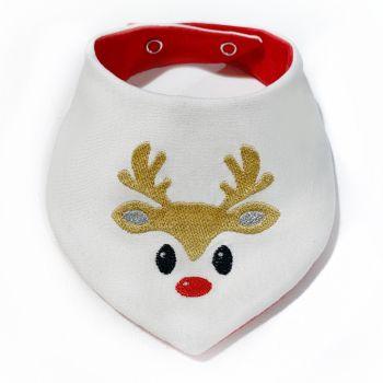 Boys Reindeer Bib