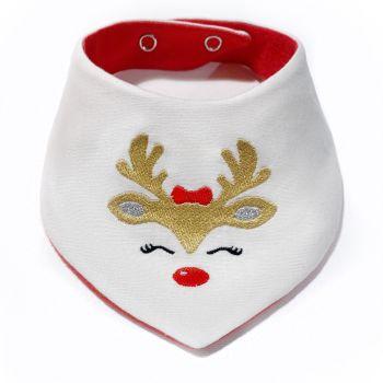 Girls Reindeer Bib