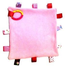Baby Pink Tab Sensory Blanket