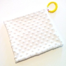 Dimple Comfort Blanket White