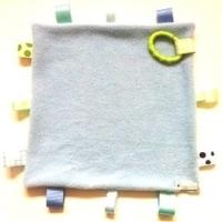 Baby Blue Tab Sensory Blanket